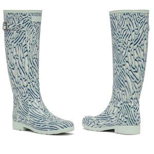 HUNTER Refined Tall Coral Print Waterproof Boot